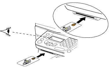 Установка смарт-карты в Xerox Phaser 3100MFP/S